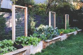 long raised beds with built in trellis by seattle urban farm