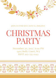 party invitation christmas party invitation portrait templates by canva