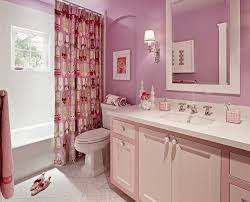 Pink Tile Bathroom pink marble bathroom transitional with girly contemporary floor