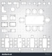 floor plan icons set simple 2d flat vector icons stock vector 266820029 shutterstock