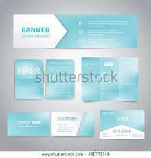 gift card business banner flyers brochure business cards gift stock vector 432083425