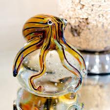 glass octopus paperweight glassware venetian glass octopus