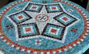 Diy Mosaic Table Diy Backyard Mosaic Firepit Hometalk
