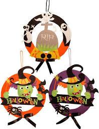 halloween felt wreath decoration door or wall decoration