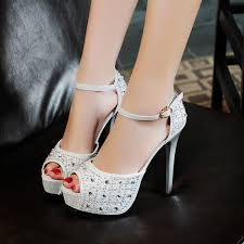 rhinestone ornament peep toe silver pumps thin high heels a buckle