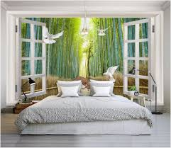 compare prices on bamboo 3d wall mural online shopping buy low custom mural 3d wallpaper bamboo forest dove elk scenery painting picture 3d wall murals wallpaper for