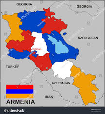 Georgia Country Map Political Map Armenia Country Flag Stock Illustration 67488361