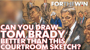 the 10 funniest tom brady courtroom sketch memes for the win