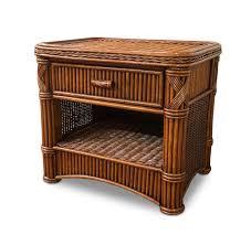 Used Wicker Bedroom Furniture by Rattan 1 Drawer Nightstand Barbados Wicker Paradise
