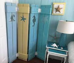 Nautical Room Divider Shutter Screen Room Divider Painted Or Unpainted Cottage
