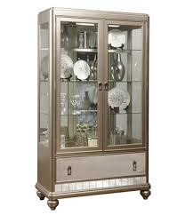 diva curio cabinet in champagne by samuel lawrence home gallery