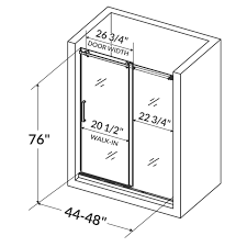 Shower Door Width Lesscare Ultra B 48 X 76 Single Sliding Shower Door Reviews