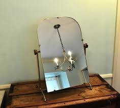 Gold Vanity Mirror Gold Swinging Vanity Mirror Stand Standing Inside Stylish Vintage