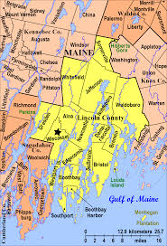 Map Of Maine Towns Maine Lincoln County Every County