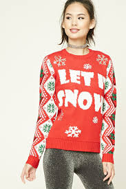 let it snow holiday sweater forever 21 2000232287