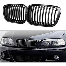 bmw black grill amazon com glossy black front kidney grille for bmw e90
