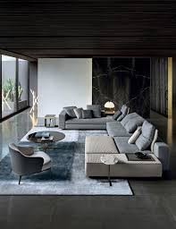 canape minotti modular sofa contemporary fabric leather yang minotti