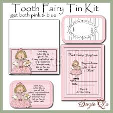 tooth fairy kit in pink and blue background digital