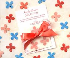 seed paper favors plantable seed wedding favors diy satin ribbons flower seed