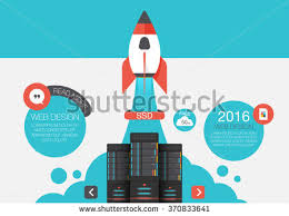 cloud storage abstract flat vector illustration stock vector