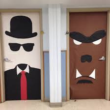 monster mash invisible man werewolf door decoration classroom