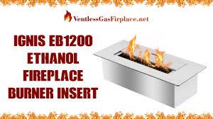 ignis eb1200 ethanol fireplace burner ventless gas fireplace