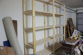 Wood Shelving Designs Garage by Easy Diy Garage Shelving Hometalk