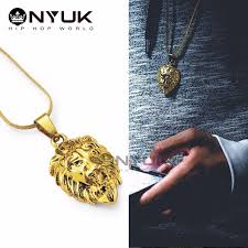 aliexpress buy nyuk new arrival men ring gold nyuk new arrival tide brand small lion pendant necklace with
