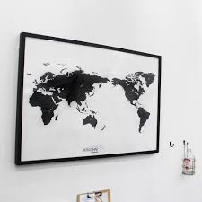 Black And White World Map Black And White World Map Simple Is The Best Draw Your Dreams