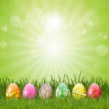 easter pictures easter eggs green background vector free