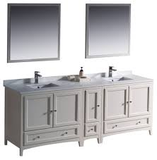 White Double Sink Bathroom Vanities by 84