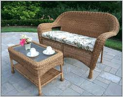 Outdoor Patio Furniture Cushions Luxury White Resin Wicker Outdoor Patio Furniture Set And White