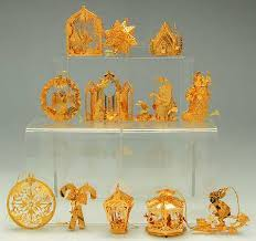 danbury mint 2002 gold ornament collection at