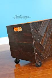 Homemade Wood Toy Chest by Craftaholics Anonymous Diy Toy Box With Herringbone Design