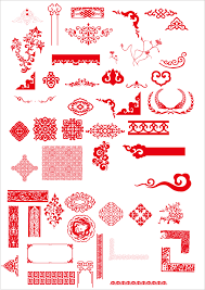 china style ornaments with frame vector vector frames borders