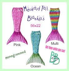 personalized mermaid tail fleece blankets great gift for