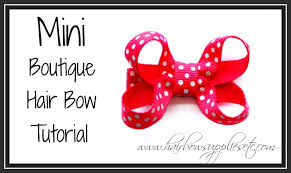hairbow supplies mini boutique hair bow tutorial infant hair bow hairbow