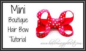bow supplies mini boutique hair bow tutorial infant hair bow hairbow