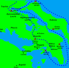 Corinth Greece Map by Of The Persian Invasions Of Greece