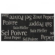 tapis cuisine noir tapis cuisine sel poivre noir 60 x 110