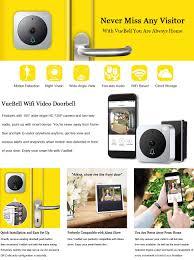 Front Door Monitor Camera by Wireless Wifi Video Doorbell Kit Vuebell Outdoor Wired Doorbell