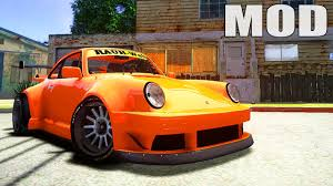 rwb porsche yellow gta iv san andreas beta porsche 911 turbo rwb pandora one beta