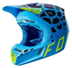 blue motocross helmet fox racing v3 grav helmet revzilla