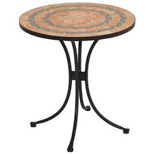exterior distintive round textured glass outdoor patio table
