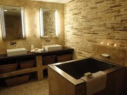 Stone Floor Bathroom - stone floor bathroom design solid wood master bath cabinet black