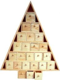 wood advent calendar wood advent tree featuring 24 removable box drawers