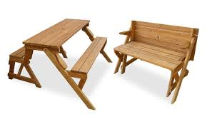 picnic table converts to bench picnic table garden bench groupon goods