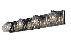 Glass Vanity Light Amazon Com Aeria 4 Light Metal Foil In Glass Vanity Chrome