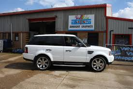 wrapped range rover sport active rentals range rover sport white wrap 01 ambient graphics