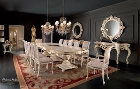 tavolo sala da pranzo sala da pranzo con consolle traforate e tavolo in legno massello